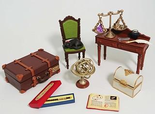RE-MENT 袖珍盒玩系列「古董店 黑貓堂」(ぷちサンプル Antique Shop 黒猫堂)原型公開!