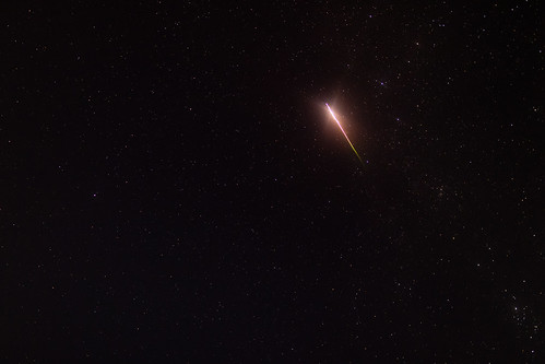 Large Perseid Meteor in Casseopeia