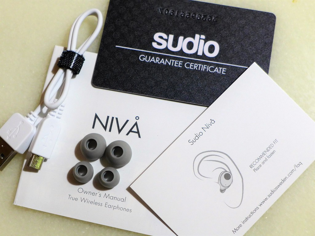 f41334bb828 Besides the instruction card, you will also receive the following items  when you purchase Sudio Niva:
