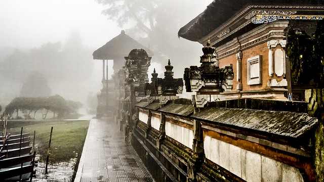 temple on a rainy day in Bali