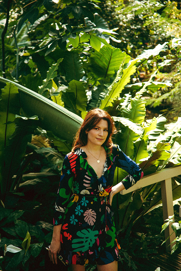 Rixo London Mini Wrap Dress | London Fashion Blogger | Barbican Conservatory