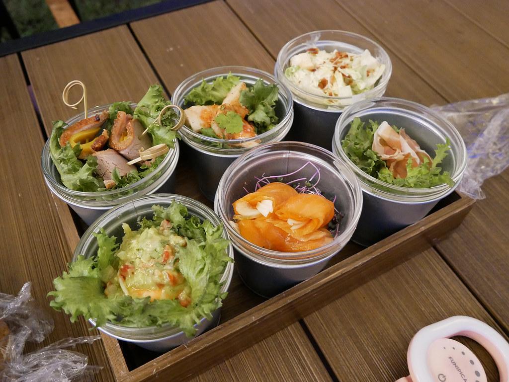 礁溪老爺酒店 露營車 沙拉 前菜 冷盤