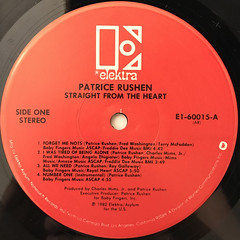 PATRICE RUSHEN:STRAIGHT FROM THE HEART(LABEL SIDE-A)