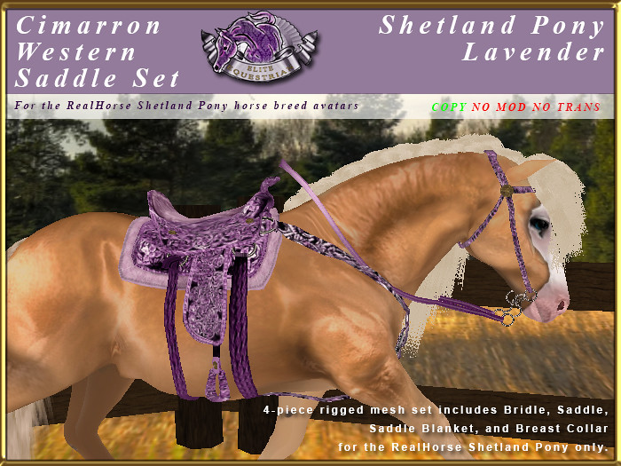 E-RH-Shetland-CimarronSaddleSet-Lavender - TeleportHub.com Live!