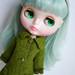 Moss green coat