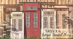 Granola. Antique Painted Doors.