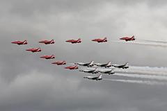 RAF Red Arrows and USAF Thunderbirds RAF Fairford RIAT 14th July 2017