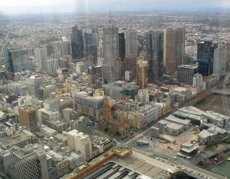 Central Melbourne, viewed from the Eureka Skydeck, June 2008