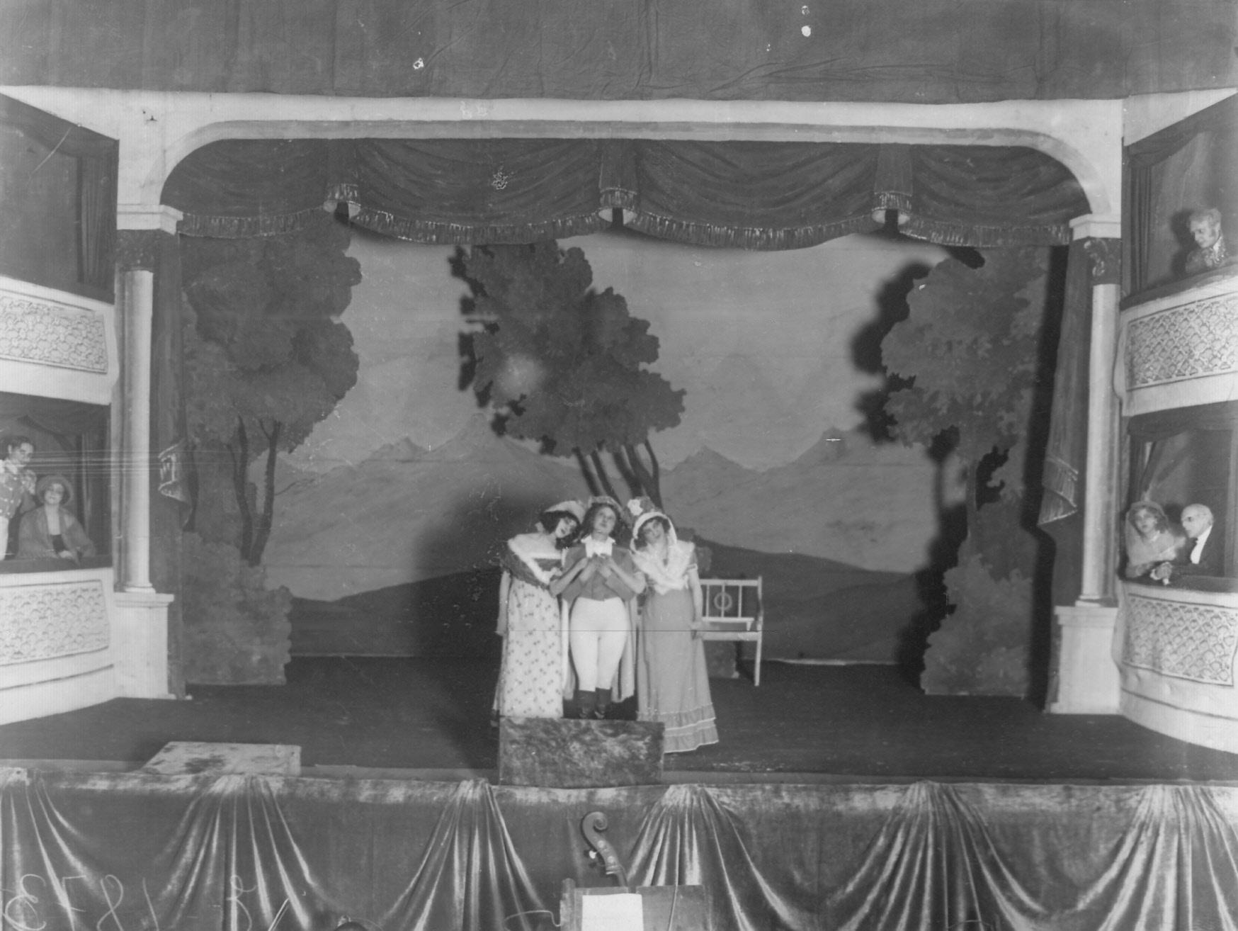 1912. Сцена из спектакля «Семья Московитов»