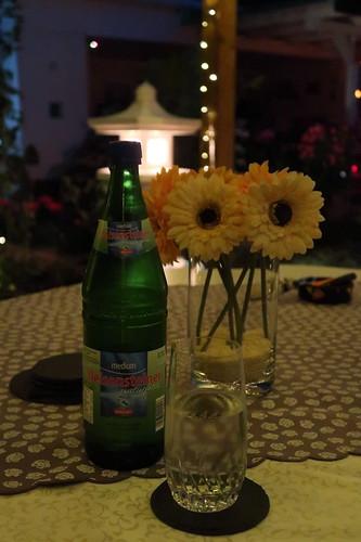Mineralwasser im zu unserer Ferienwohnung gehörigen Garten