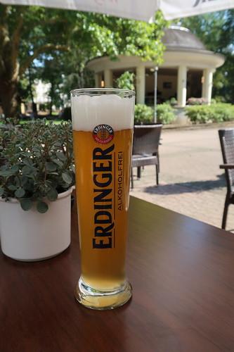 Alkoholfreies Weizen auf der Terrasse des Kurhauses Bad Kreuznach