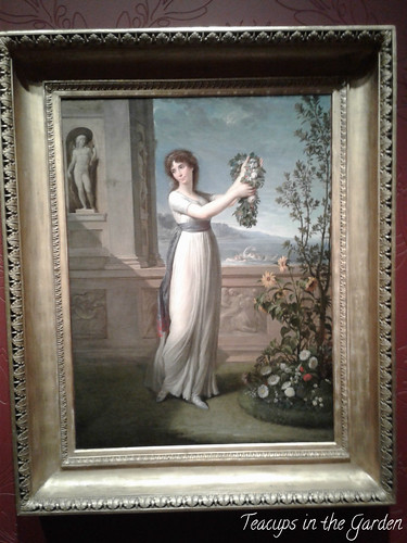 2-Josephine Bonaparte laying a wreath on the holy myrtle 1796