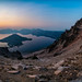 Sunrise at Crater Lake by masonmarsh
