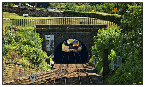 hallroydjunction todmorden 2018 yorkshire westyorkshire calderdale gbrf shed class66 66735 gbrailfreight tunnel portal biomass wood crossstoneroad hallroydroad summer summersolstice