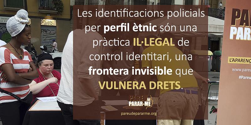 Com protegir-se, intervenir i denunciar · Identificacions policials per perfil ètnic