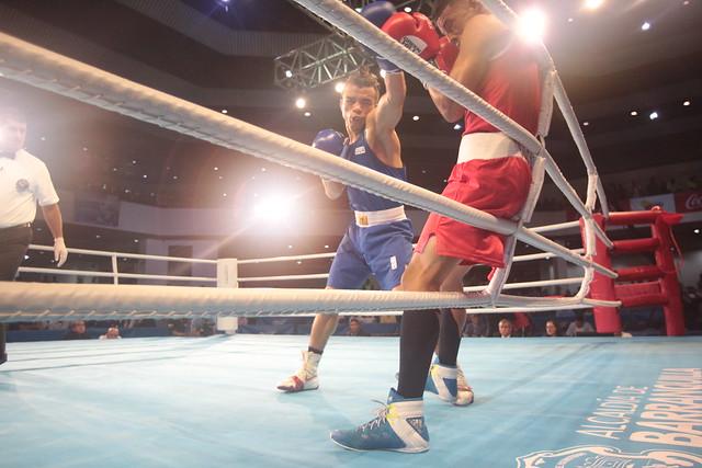 Oro del boxeador Juan Reyes en Barranquilla 2018