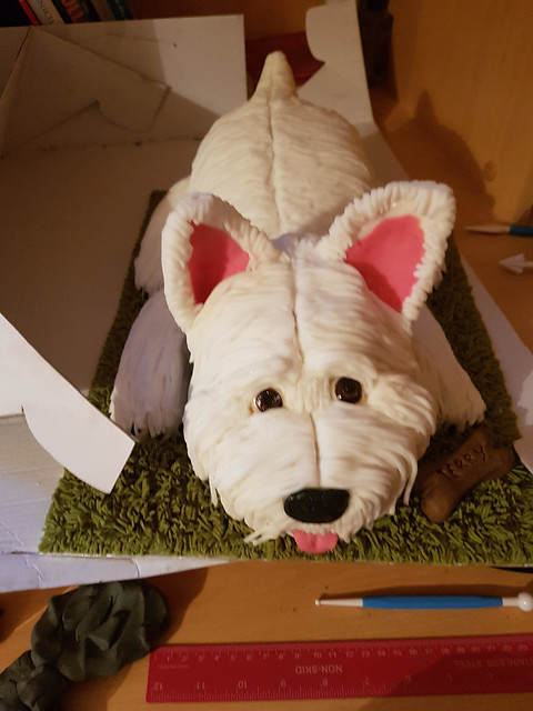 Cute Dog Cake by Katie Baillieux