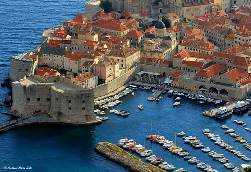 The Old Town Harbour of Dubrovnik