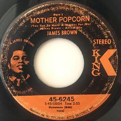 JAMES BROWN:MOTHER POPCORN(LABEL SIDE-A)