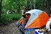 Camping at Treman