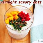 Overnight savory oats