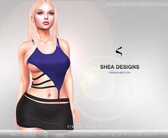 SD Penelope Mesh Dress -   Blue&Black