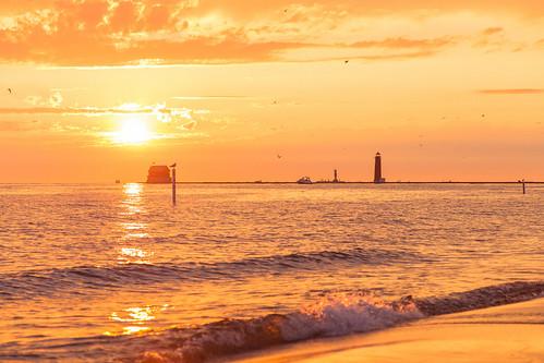 Grand Haven sunset. Photographer Gregory Bozik