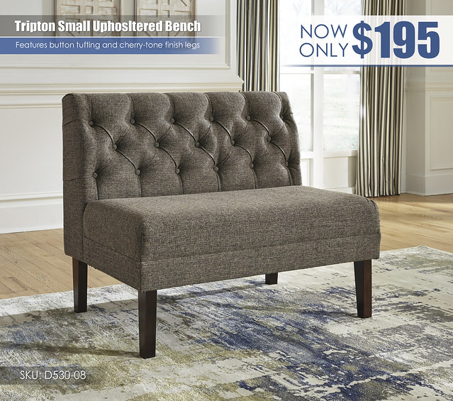 Tripton Small Upholstered Bench_D530-08