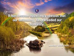 Albert Einstein Quote It become appallingly