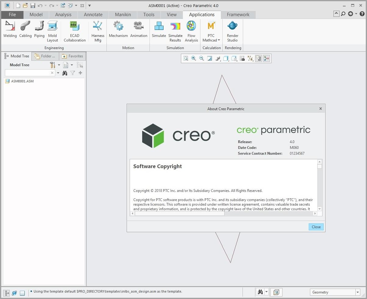 Working with PTC Creo parametric 4.0 M060 full