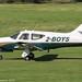2-BOYS - 1994 build Commander Aircraft 114B, arriving on Runway 26L at Barton