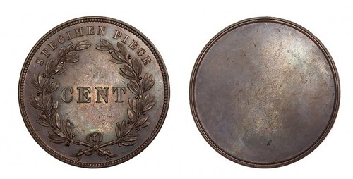 Uniface Bronze Specimen Cent