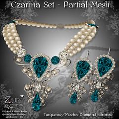 Zuri's Czarina Set P-Mesh TurquoiseMochaBronze
