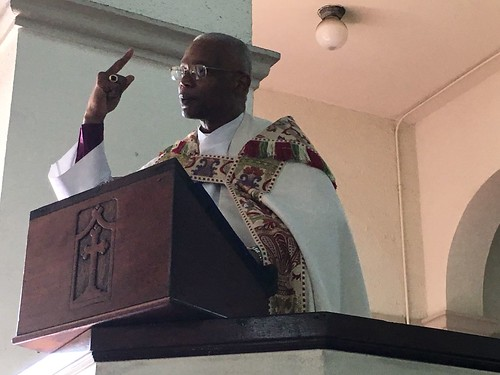 Archbishop Julio Murray preaches after his installation as Primate of the Anglican Church of Central America