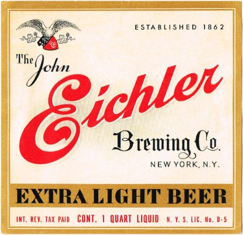 Eichlers-Extra-Light-Beer-Labels-John-Eichler-Brewing-Company--2nd-Brewery