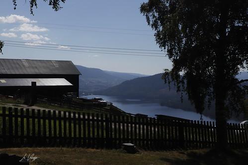 hegge staafkerk stavechurch norway noorwegen holiday vakantie heggefjorden view uitzicht