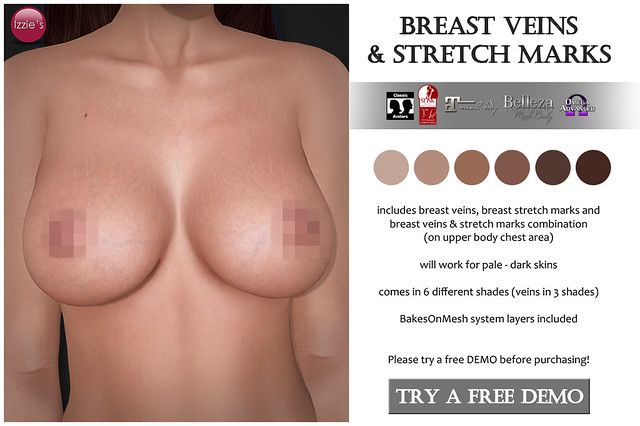 Breast Veins & Stretch Marks for FLF