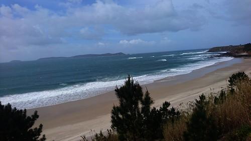 Praia de Major e Illa de Ons