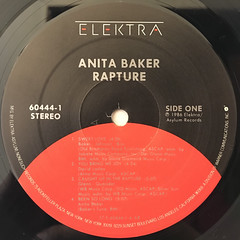 ANITA BAKER:RAPTURE(LABEL SIDE-A)