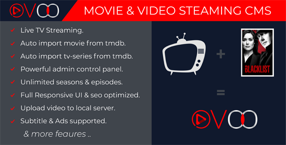 Image Result For Codecanyon Ovoo V Movie Video Streaming Cms With Unlimited Tv Series