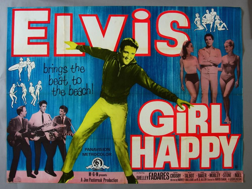 Advertising poster for Elvis Presley's film Girl Happy, released in 1965.