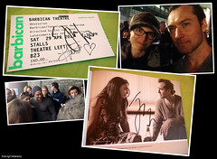 20170428-29_1 I saw Jude Law in ''Obsession'' & got my ticket & programme signed! :D (The other ticket siggy is from Halina Reijn.)   Barbican Theatre, London, England