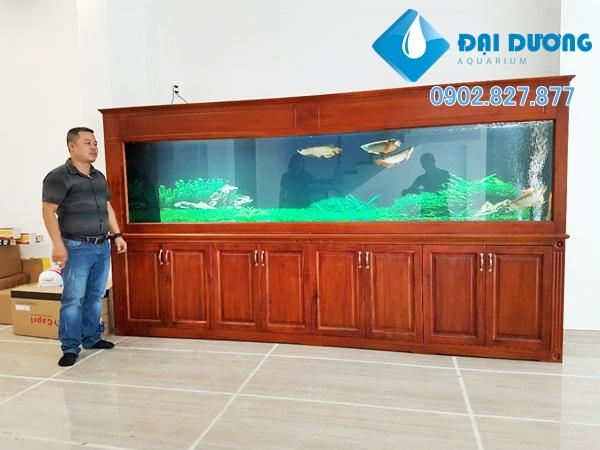 Hồ cá rồng Dài 3.4m tại bình thạnh