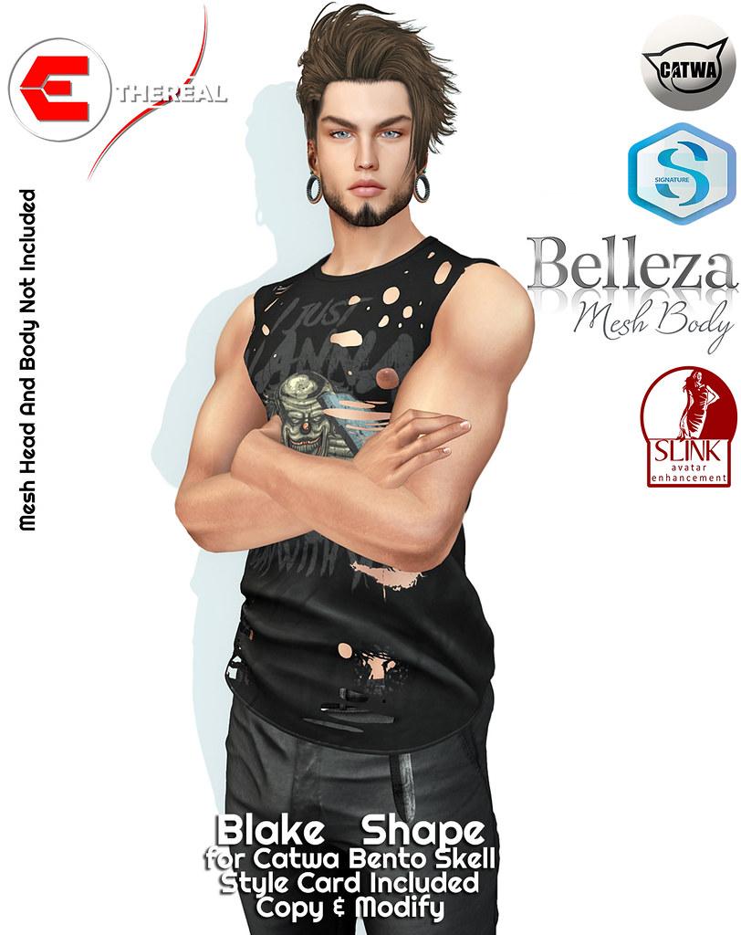 Blake Shape - Bento Catwa Skell - TeleportHub.com Live!