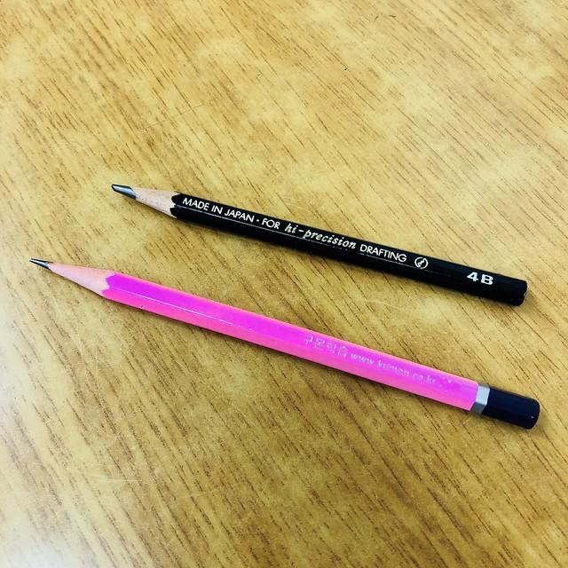 드로잉 교실 - 레슨 1 - 연필과 펜 고르기