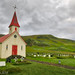 Church near the black beach