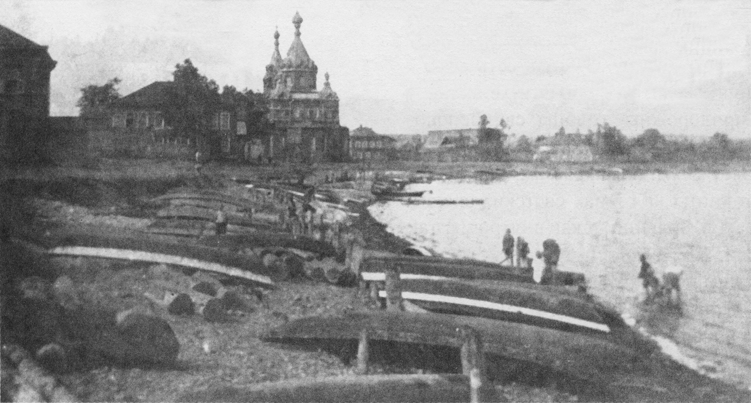 Воткинский завод. Вид на церковь св. Илии Пророка в Конанке