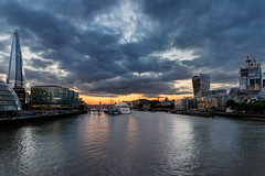 Sunset over London City