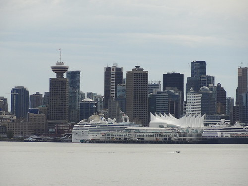 View of Vancouver city from at Lonsdale Quay Market