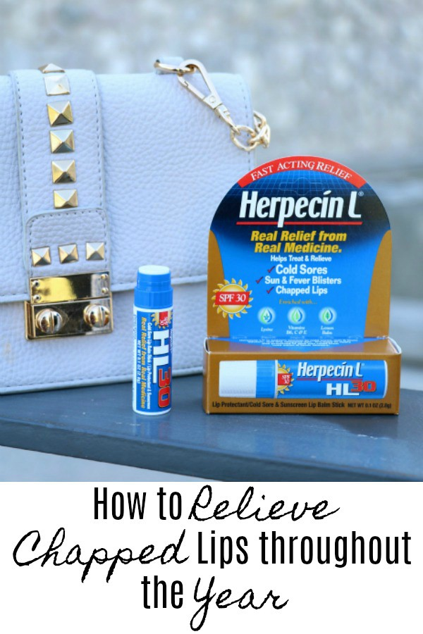 How to Relieve and Prevent Chapped Lips throughout the Year #Herpecin